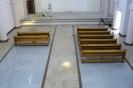 Ławki w nowym kościele 2014r.